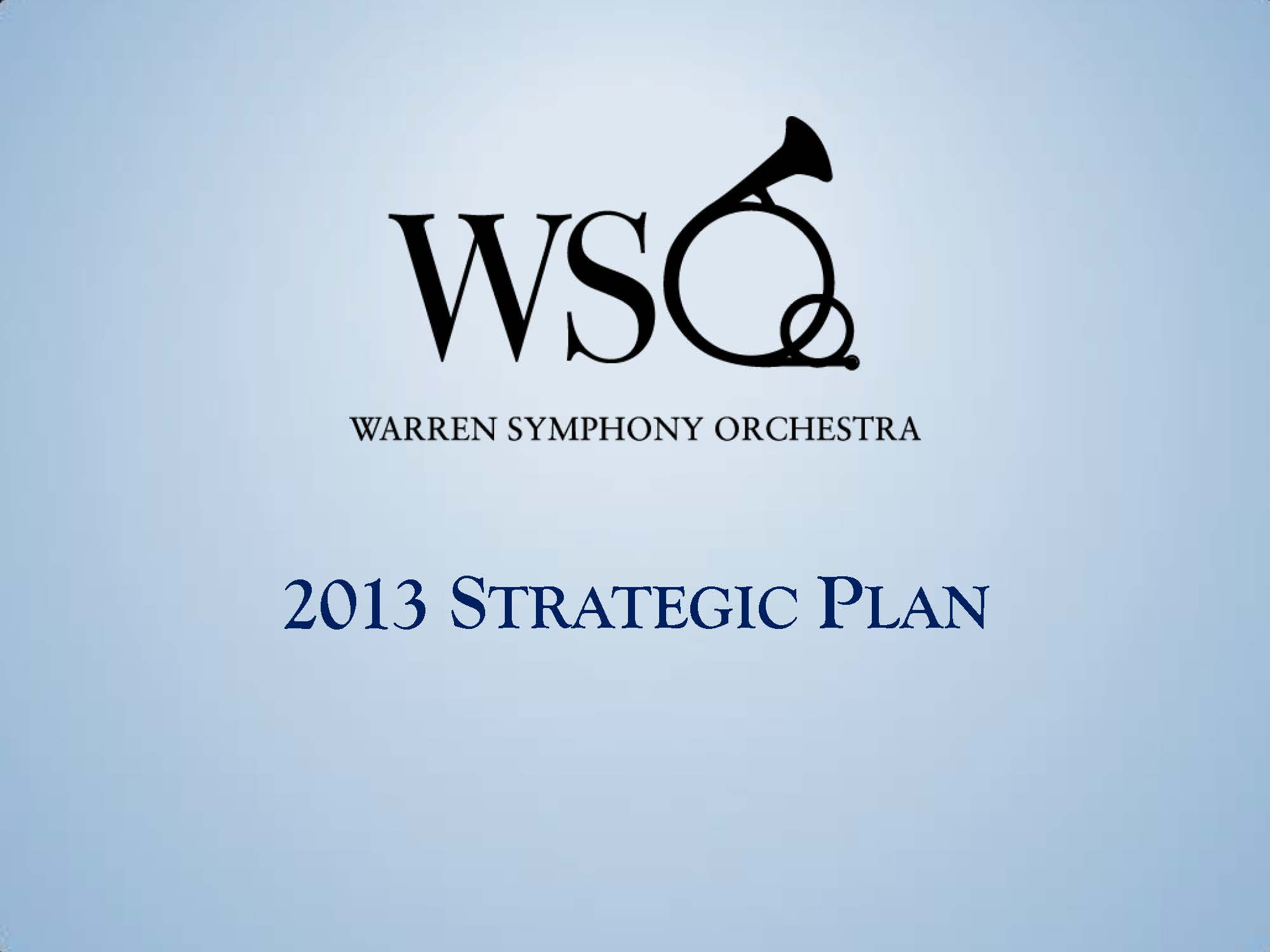 Warren Symphony Society 2014 Annual Report